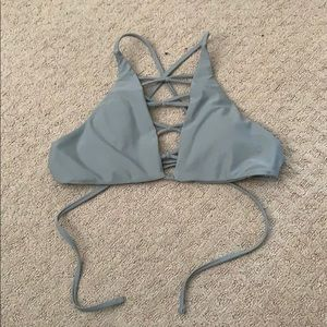 Halter swim top